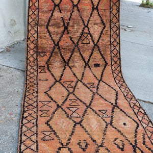 ON HOLD NOT AVAILABLE K74 Buglem 2'9x11'4 Handwoven Vintage Rug