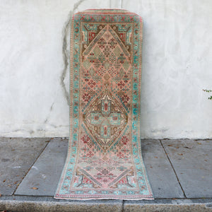 ON  HOLD NOT AVAILABLE K81 Zümra 3'3x9'8 Handwoven Vintage Rug