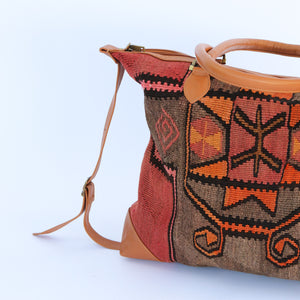 Kilim & Leather Day Bag #4