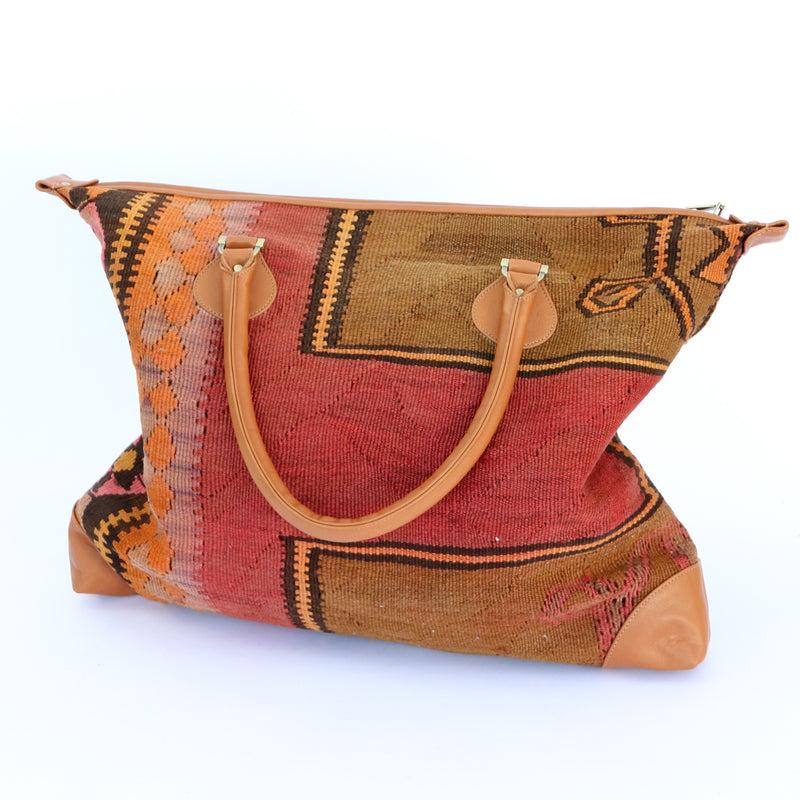 Kilim & Leather Day Bag #14