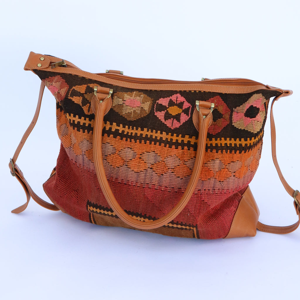 Kilim & Leather Day Bag #5