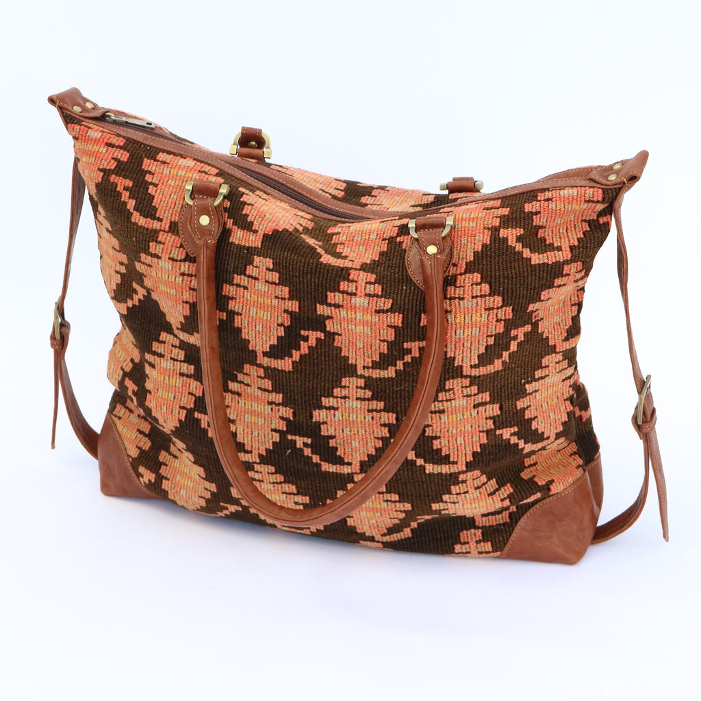 Kilim & Leather Day Bag #7