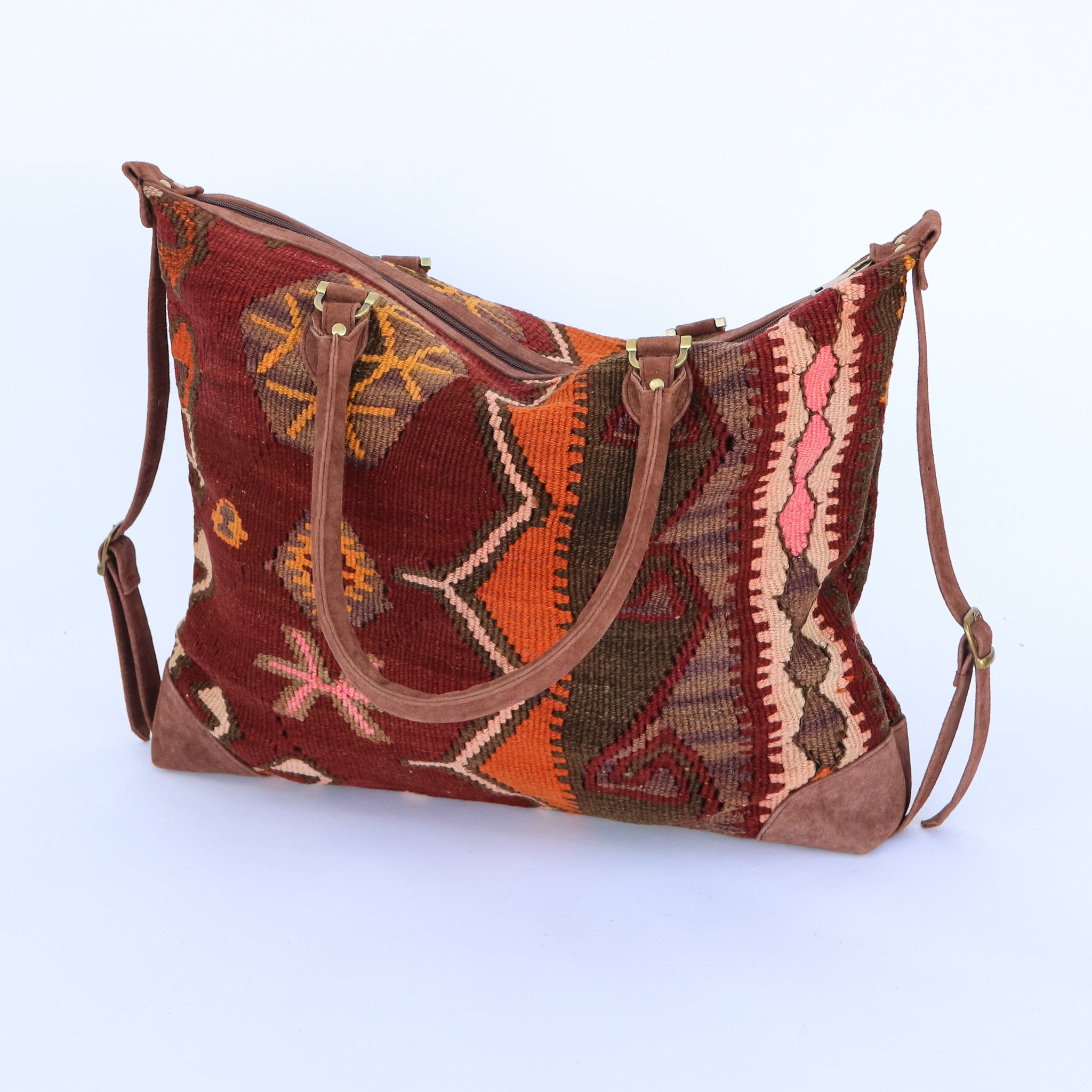 Kilim & Leather Day Bag #9