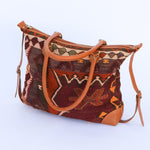 Kilim & Leather Day Bag #10