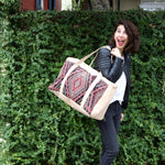 Kilim & Leather Overnight Bag #14