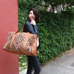 Kilim & Leather Overnight Bag #13