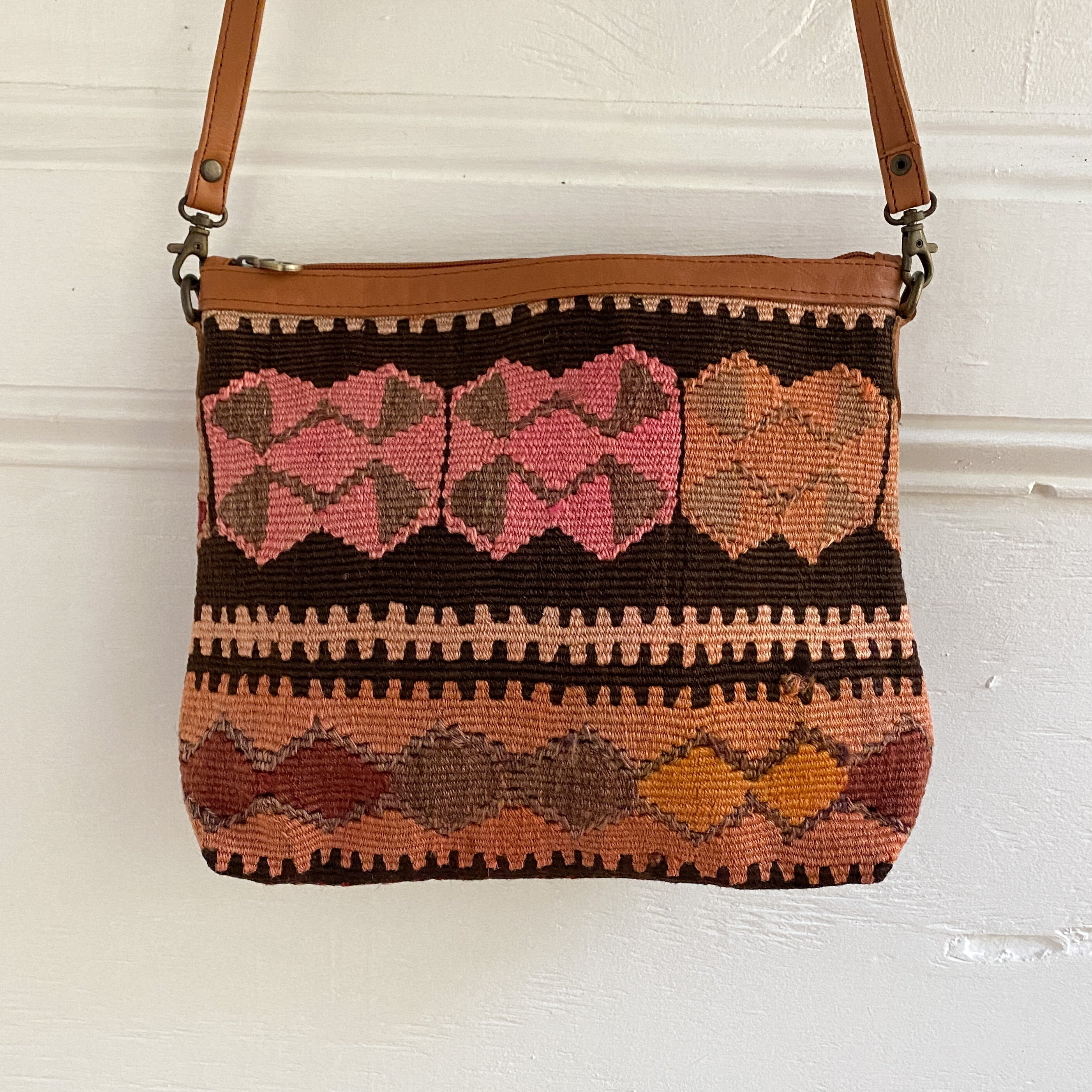 Kilim & Leather Crossbody / Pocketbook #29