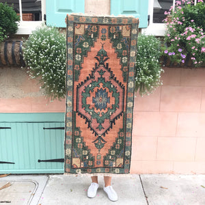 S-28 Small Handwoven Vintage 2x4'6