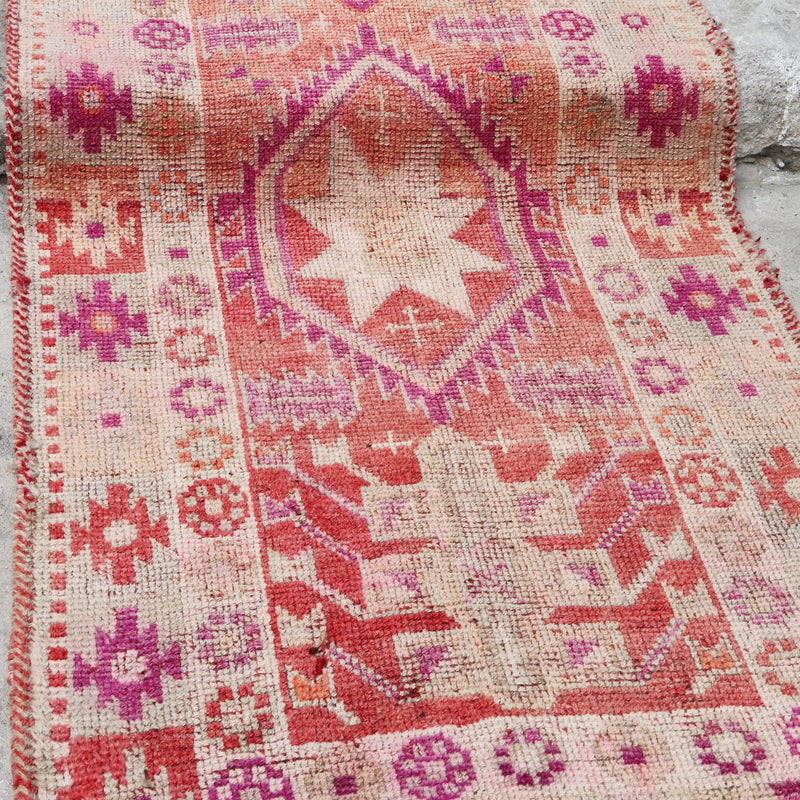 ON HOLD NOT AVAILABLE 488 Canan 2'8x12'2 Handwoven Vintage Rug