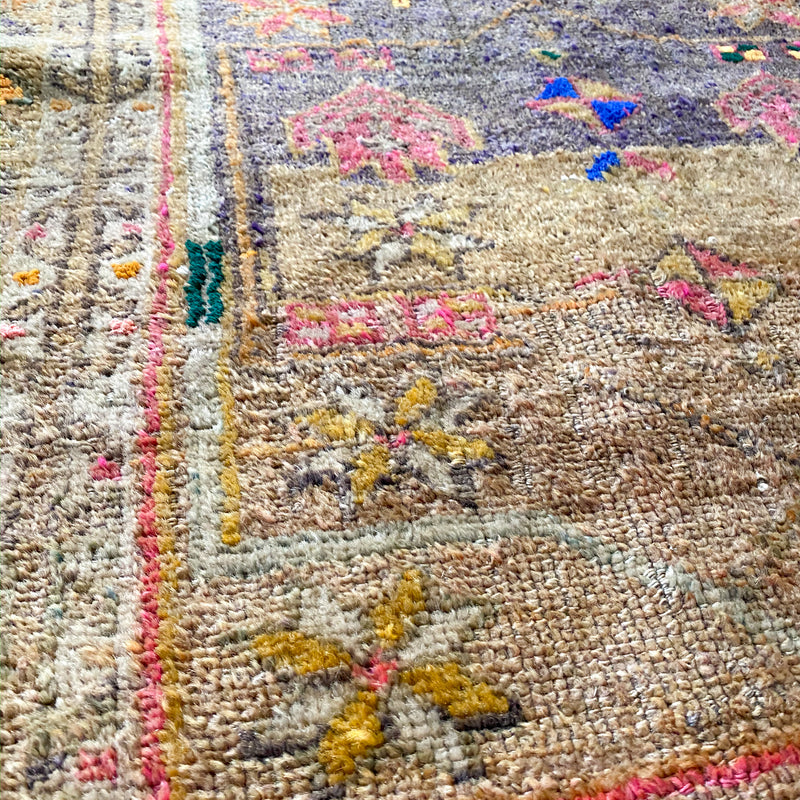 ON HOLD 2187 Handwoven Vintage Rug 3'2x10'6