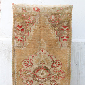 ON HOLD 1046 Rabia 2'7x6'6 Handwoven Vintage Rug