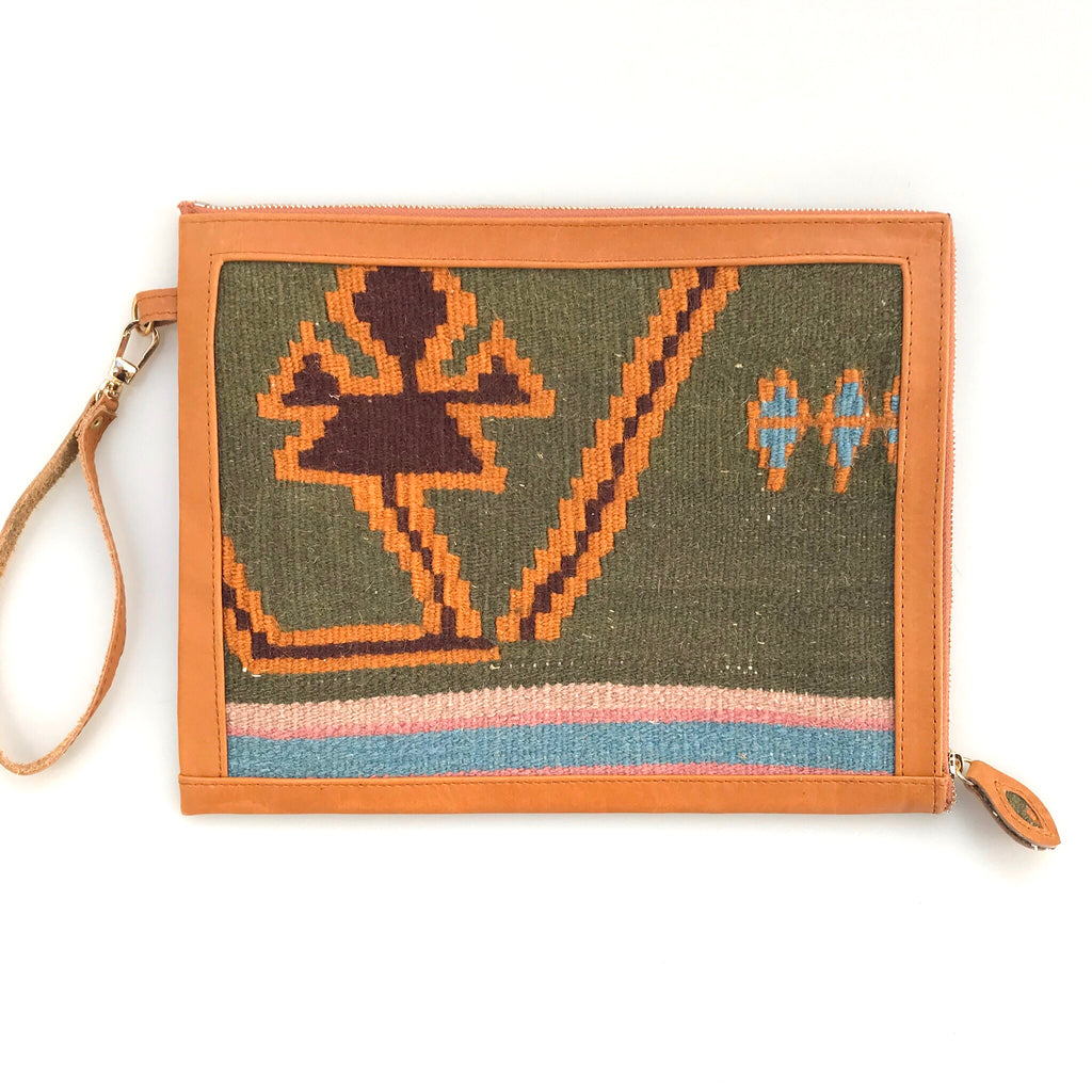 Kilim & Leather Clutch #07