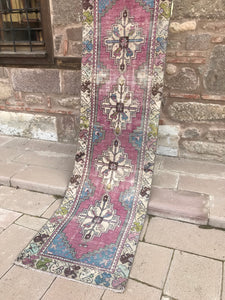 Purple Vintage Turkish Runner
