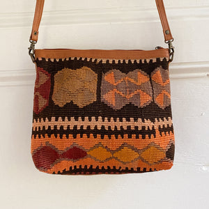 Kilim & Leather Crossbody / Pocketbook #33