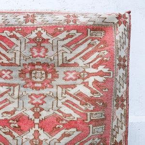 ON HOLD 1524 Pembe 3'3x6 Handwoven Vintage Rug