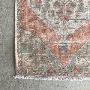IST21 Peach Small Handwoven Vintage 19x34
