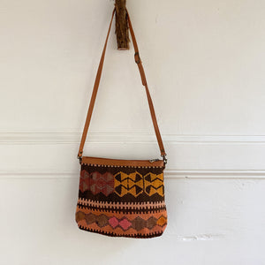 Kilim & Leather Crossbody / Pocketbook #32
