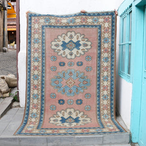 ON HOLD NOT AVAILABLE 1100 Elif 5'6x8'2 Handwoven Vintage Rug