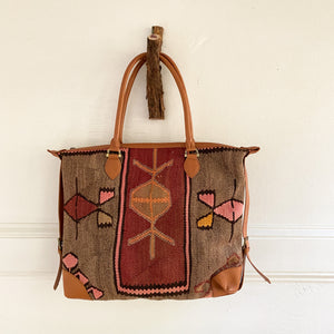 Kilim & Leather Day Bag #30
