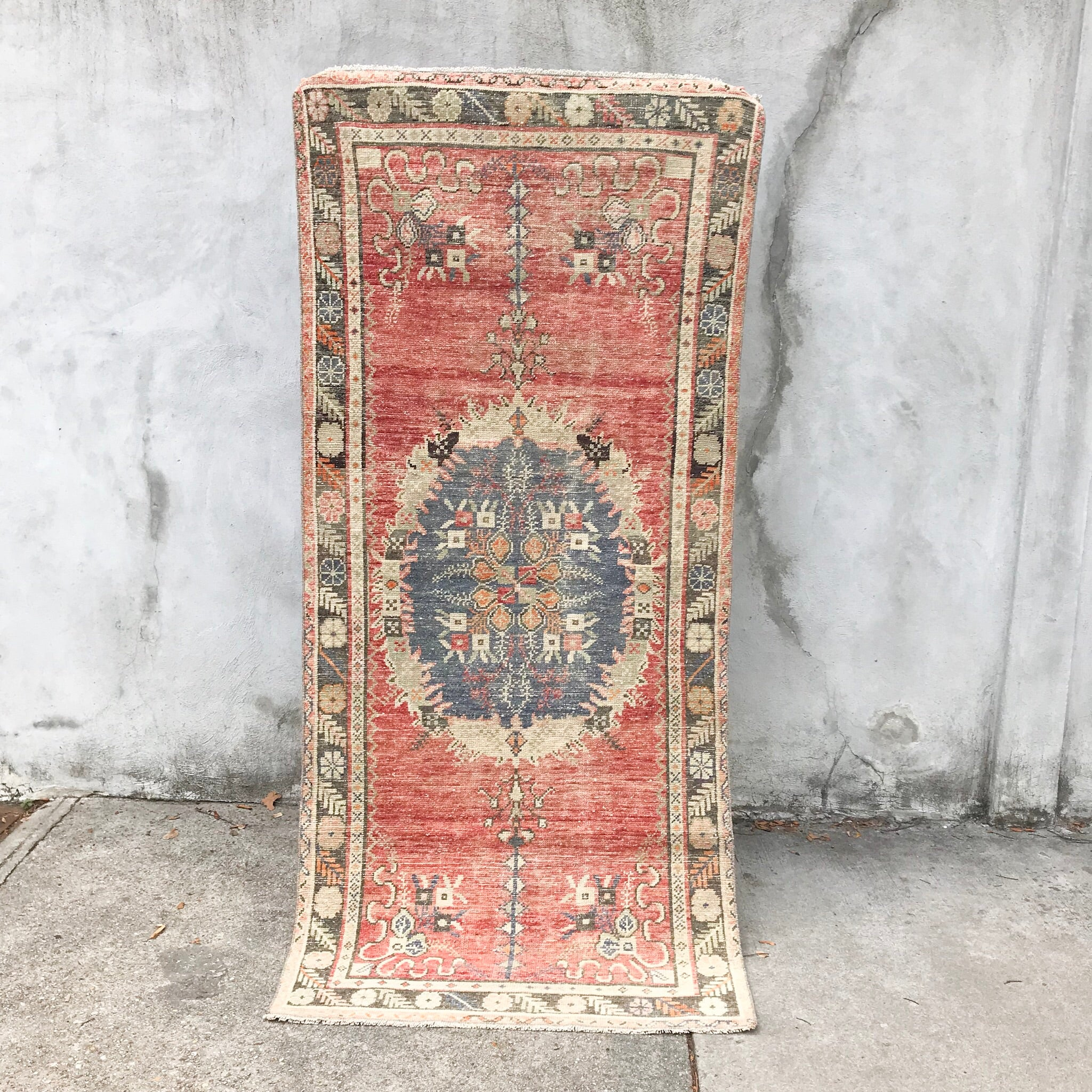 vintage turkish handwoven rug