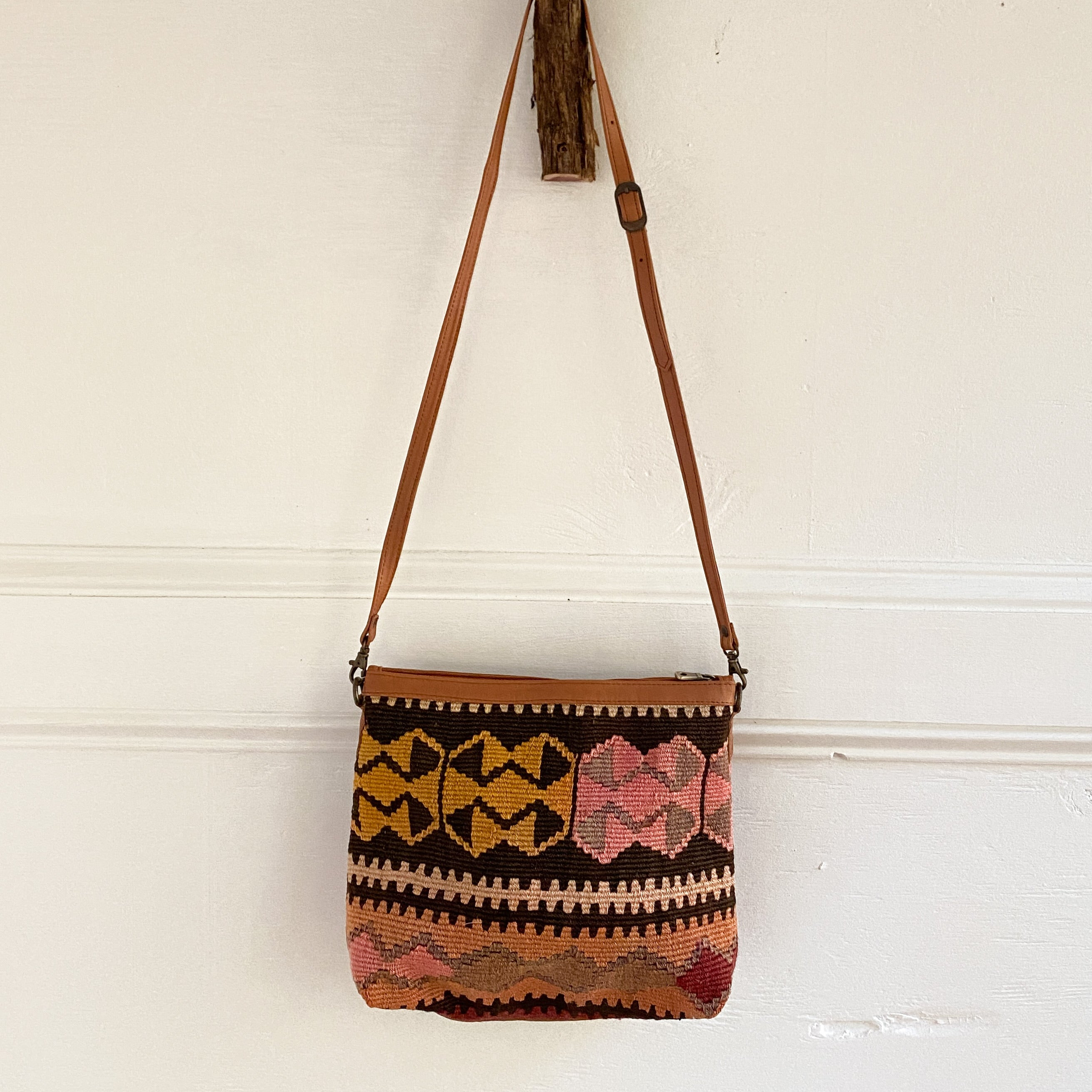 Kilim & Leather Crossbody / Pocketbook #36