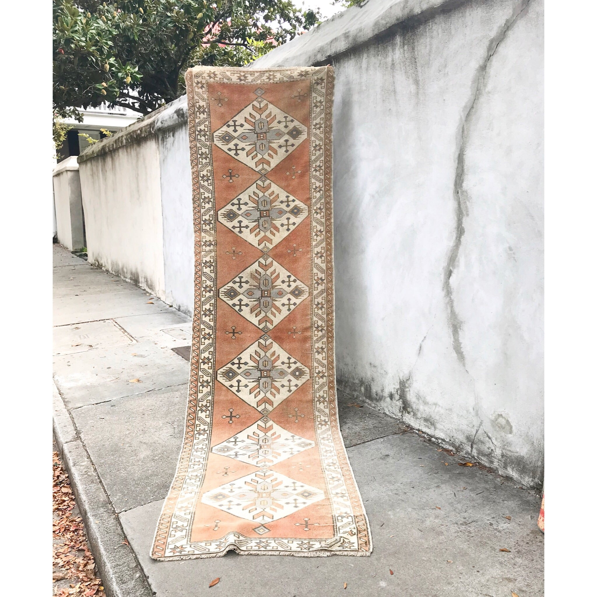ON HOLD 269 Nazan Handwoven Vintage Rug 2'8x10'8