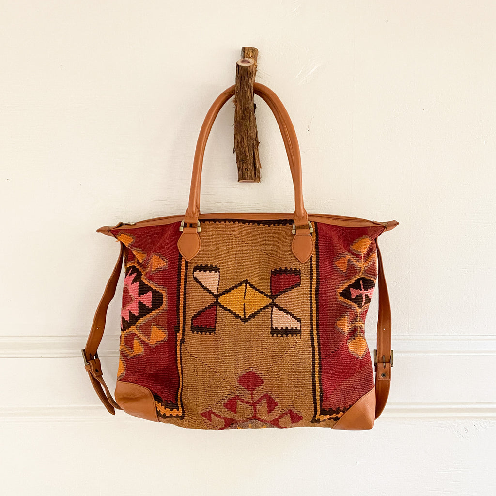 Kilim & Leather Day Bag #31