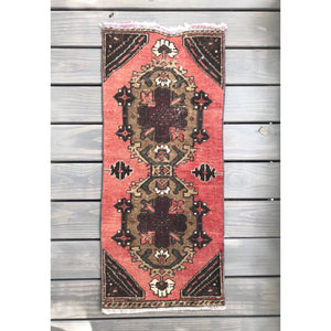 Small vintage turkish rug yastik from Zuma