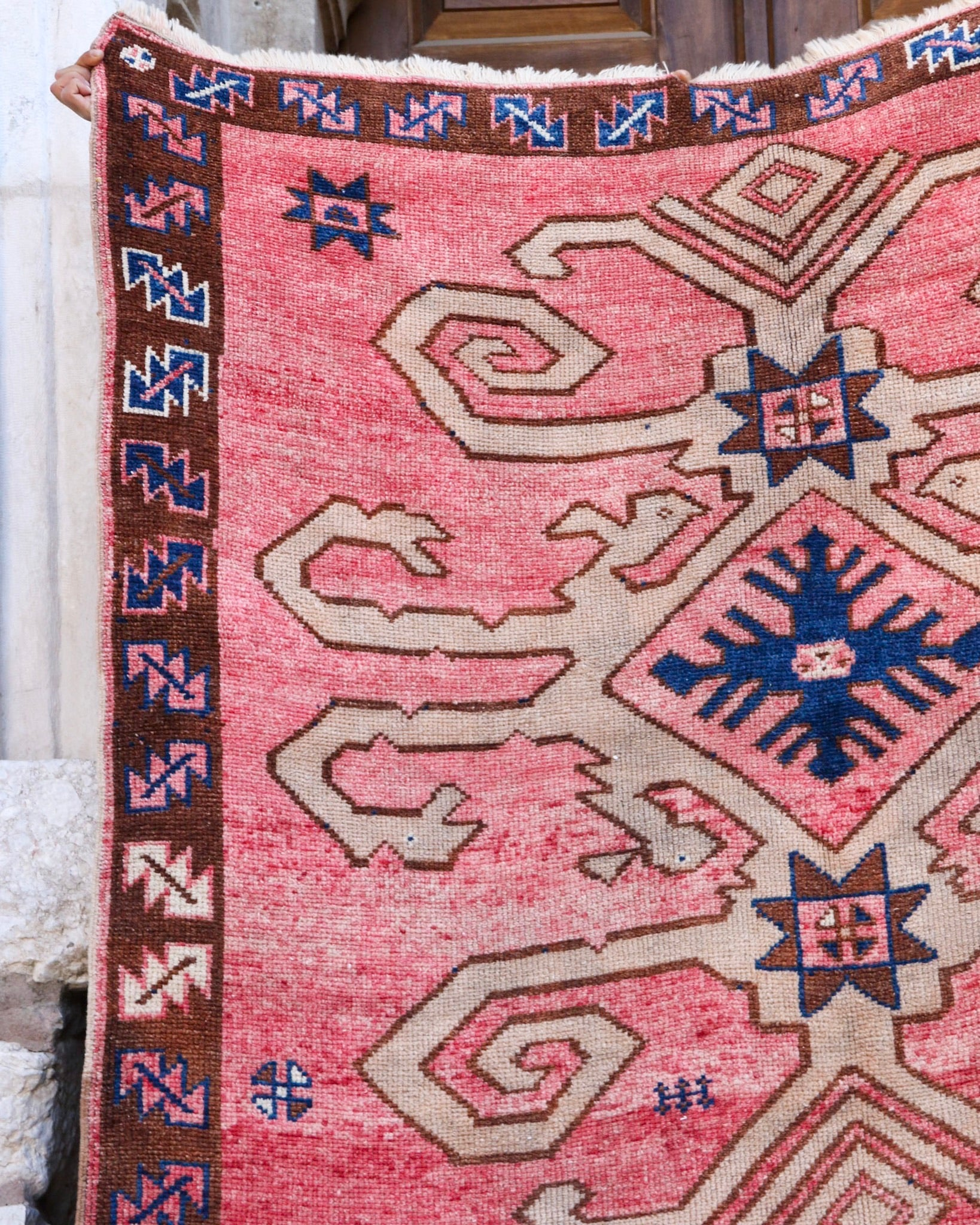 ON HOLD NOT AVAILABLE 1662 Nilay 5'8x10'9 Handwoven Vintage Rug