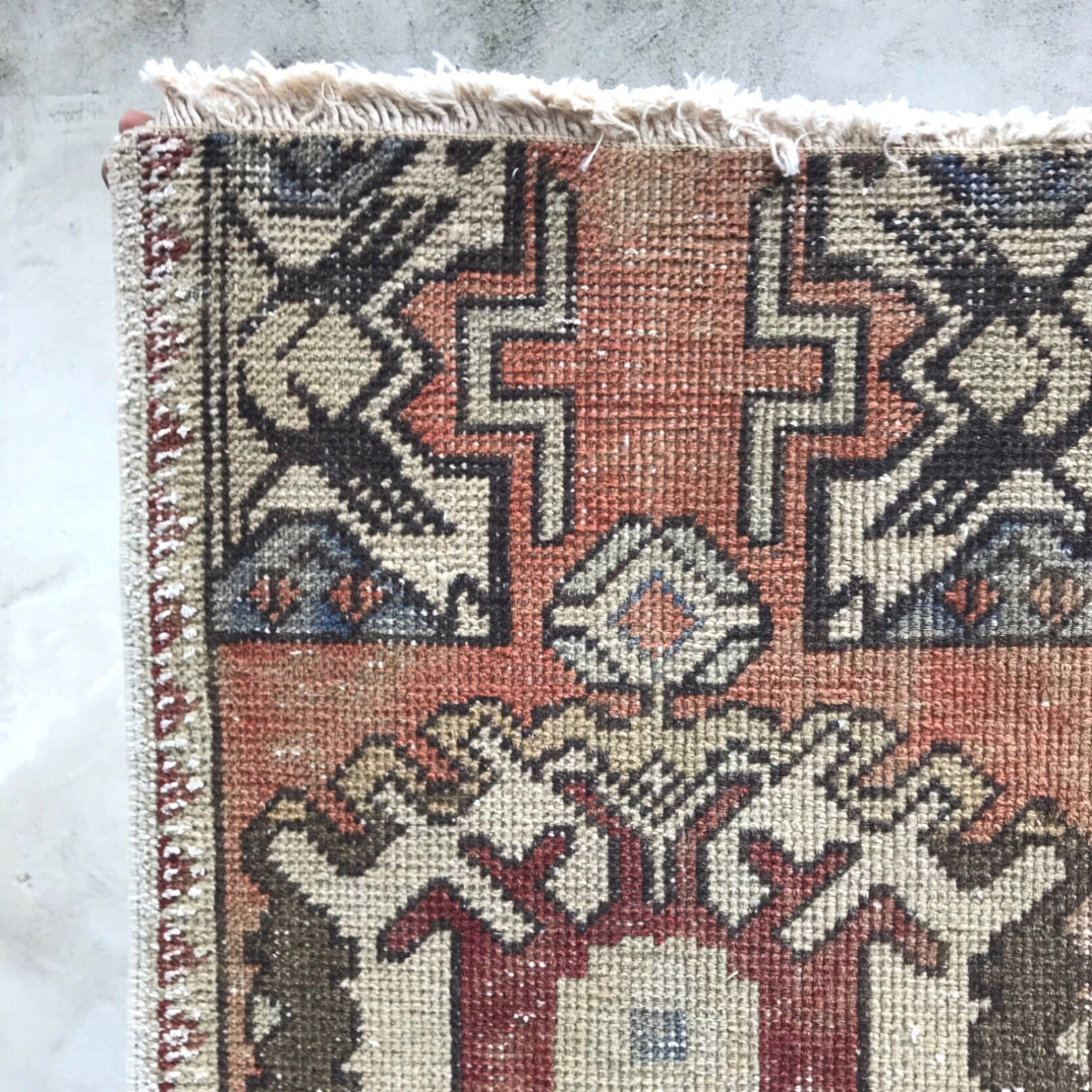 247 Small Handwoven Vintage 1'6x2'4