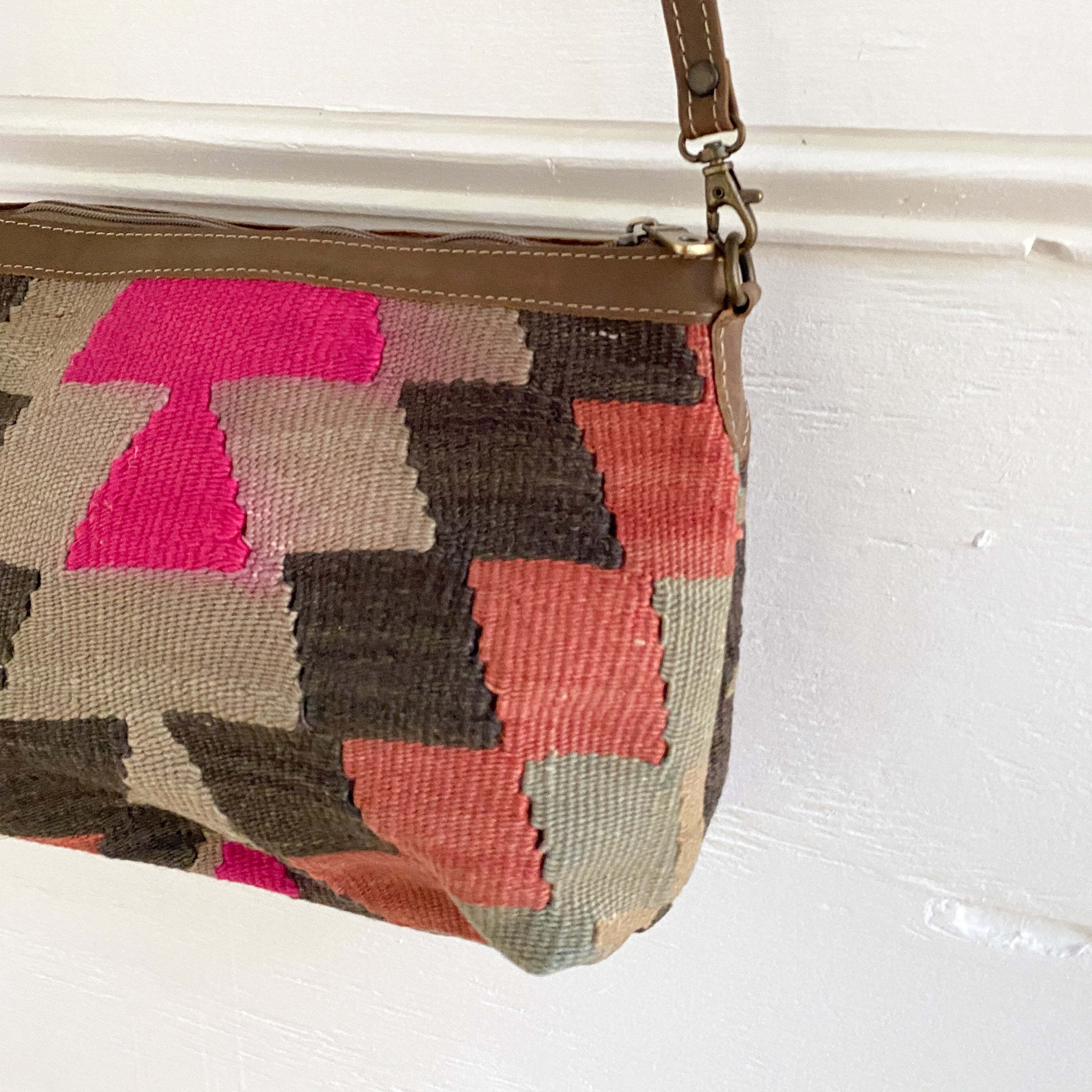 Kilim & Leather Crossbody / Pocketbook #30