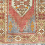 ON HOLD NOT AVAILABLE 2654 Handwoven Vintage Rug 2'7x10