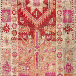 488 Canan 2'8x12'1 Handwoven Vintage Rug