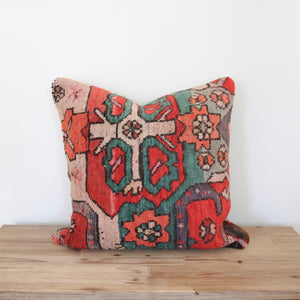Our pillowcases are made from recycled handwoven vintage Turkish kilims.  Zipper closure. Insert not included. Natural dyes. Wool. Each pillow is one of kind.
