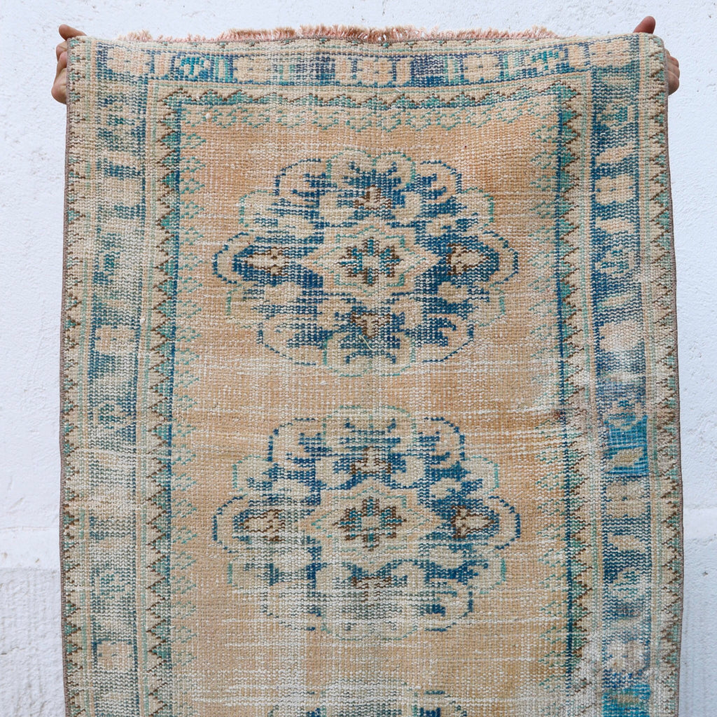ON HOLD 1164 2'8x11'4 Handwoven Vintage Rug