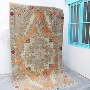 ON HOLD / CURRENTLY NOT AVAILABLE FOR PURCHASE 1078 Belinay 4'5x7'3 Handwoven Vintage Rug