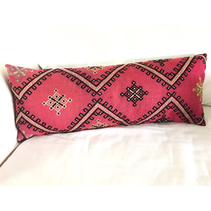 Pink Cicim Pillow 14x36