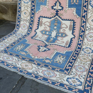 ON HOLD 779 Fatma 6'1 x 8 Handwoven Vintage Rug