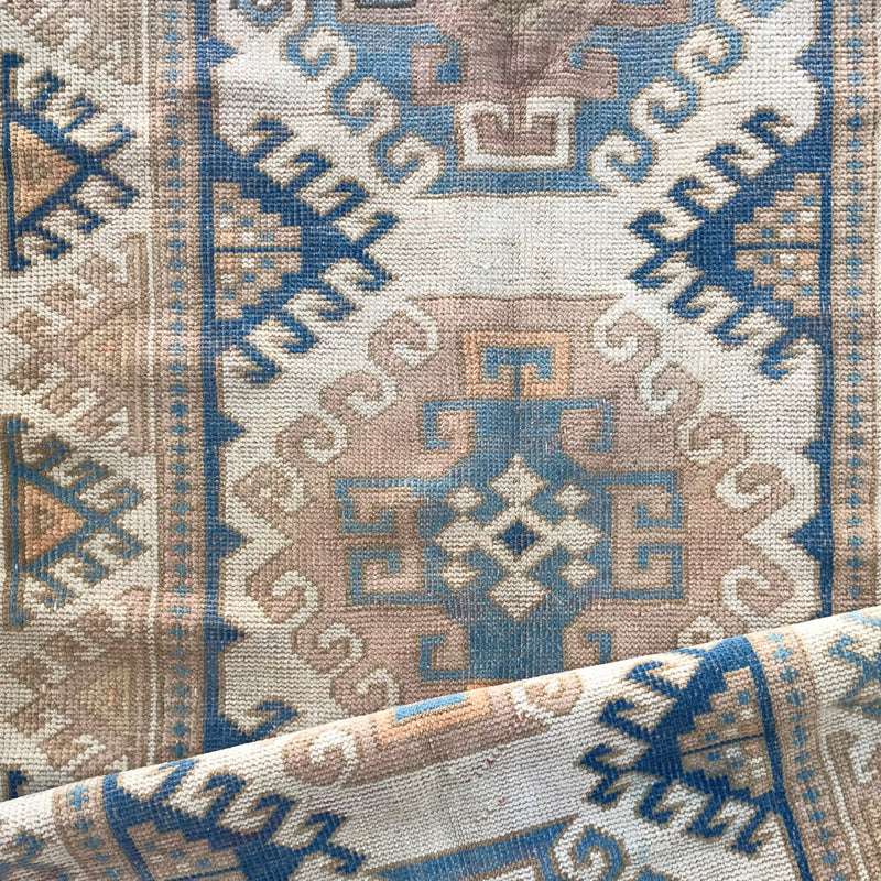 ON HOLD H100 Damla 3'1x11'3 Handwoven Vintage Rug