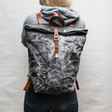 Black Marble Large Backpack