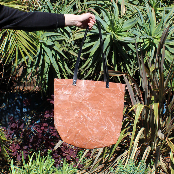 Burnt Orange Marble Tote Bag