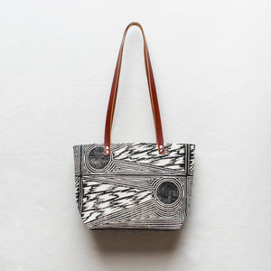 Comet Block Print Small Tote Bag