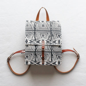 Evil Eye Block Print Small Backpack