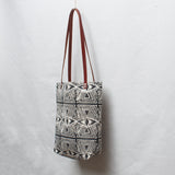 Evil Eye Block Print Small Tote Bag