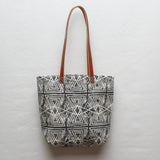 Evil Eye Block Print Tote Bag