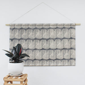 Flood Faux Headboard Wall Hanging Black Pearl