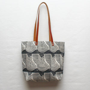 Flood Block Print Tote Bag