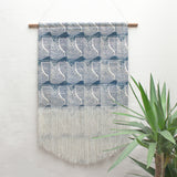 Large Flood Wall Hanging in Blue