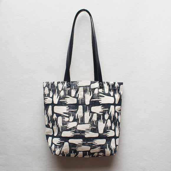 FU Block Print Tote Bag
