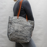 Flame Block Print Tote Bag
